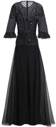 Temperley London Embellished Silk-Organza Gown