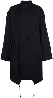 Yohji Yamamoto asymmetric trench coat