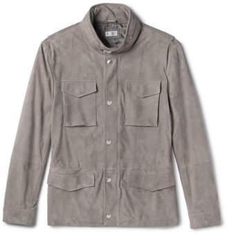 Brunello Cucinelli Slim-Fit Corduroy-Effect Suede Field Jacket