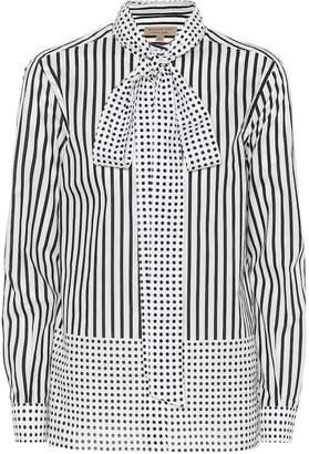 Burberry Striped and polka-dot cotton shirt