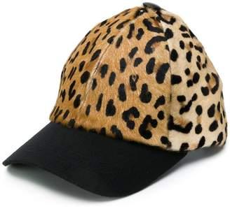 Simonetta Ravizza Furrissima leopard print baseball cap