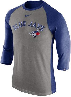 Nike Men's Toronto Blue Jays Tri-Blend Three-Quarter Raglan T-shirt