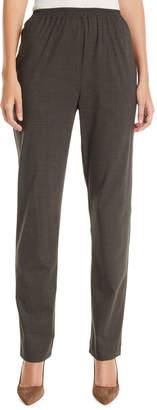 eskandar Narrow-Leg Pull-On Stretch-Wool Trousers