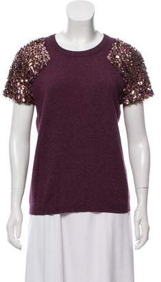 Tory Burch Sequin Embellished Wool Sweater