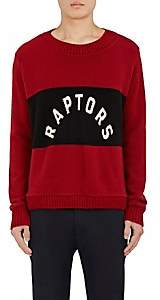 "The Elder Statesman X NBA X NBA MEN'S ""RAPTORS"" CASHMERE SWEATER-RED SIZE S"