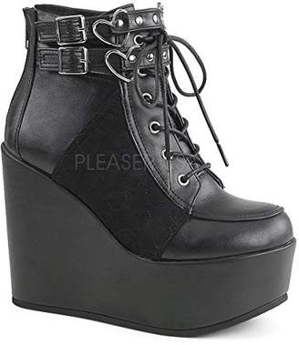 Demonia Women's Poi105/Bvl-Vel Ankle Bootie