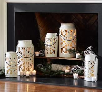 Pottery Barn Snowflake Lantern