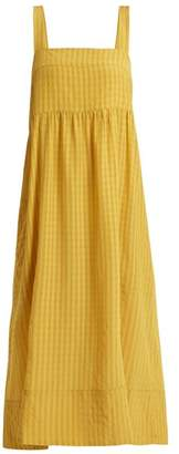 Lee Mathews - Rothko Square Neck Long Dress - Womens - Gold