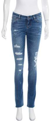 Dolce & Gabbana Distressed Mid-Rise Jeans w/ Tags
