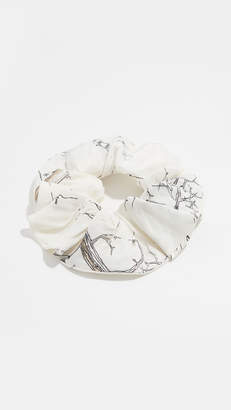 Ganni Silk Linen Scrunchie