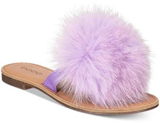 bebe Katerina Pom Pom Thong Flat Sandals Women's Shoes