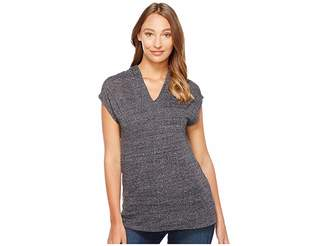 Mod-o-doc Soft and Slubby Sweater Short Sleeve Pullover Hoodie Women's Sweater
