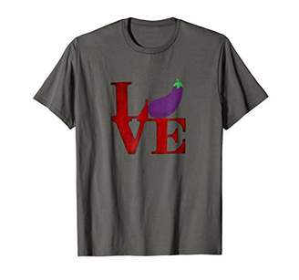 Love Eggplant Philly Emoji Funny T Shirt