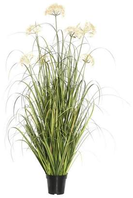 August Grove Artificial Flowering Grass in Pot