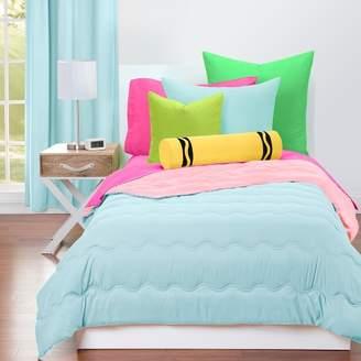 Crayola Sky Blue and Tickle Me Pink Comforter