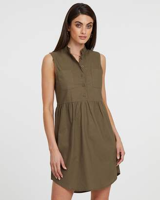 Atmos & Here ICONIC EXCLUSIVE - Cindy Collar Shirt Dress