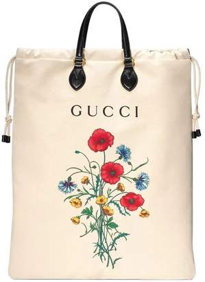 0d56492117e9 Gucci Drawstring tote with chateau marmont print