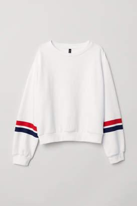 H&M Short Sweatshirt - White