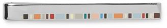 Enamelled Silver-Tone Tie Bar