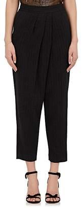 Masscob Women's Wool-Linen Crossover Pants