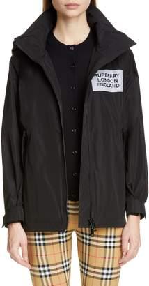 Burberry Kway Millport Logo Print Waterproof Taffeta Jacket