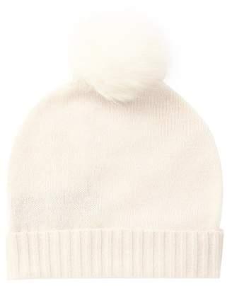 SKULL CASHMERE Julissa Cashmere Genuine Fox Fur Pompom Beanie