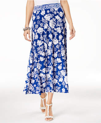 INC International Concepts I.N.C. Printed Midi Skirt, Created for Macy's