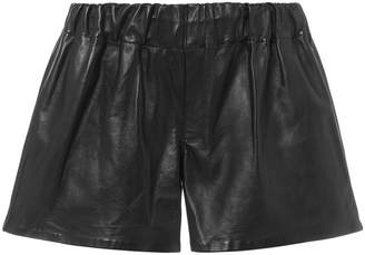 Rag & Bone Black Leather Shorts