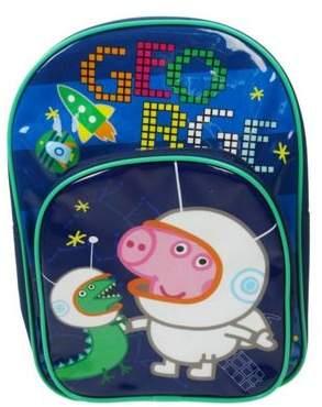 Peppa Pig Cosmic George Two Pocket Backpack School Bag Rucksack One Size