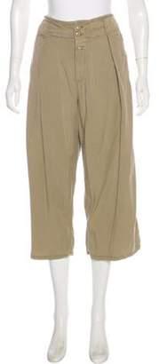 Closed High-Rise Wide-Leg Pants Khaki High-Rise Wide-Leg Pants