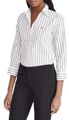 Lauren Ralph Lauren Stretch-Cotton Button-Down Shirt