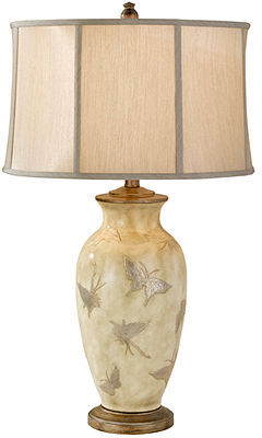 Murray's Murray Feiss Table Lamp, Hand Painted Porcelain