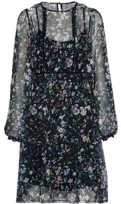 R 13 Floral-print Silk-chiffon Dress