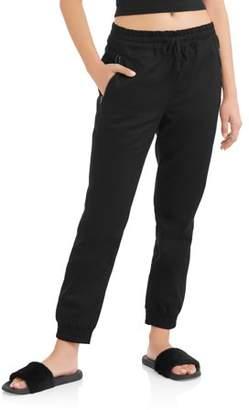 L.N.V. Juniors' Zipper Pocket Elastic Waist Joggers