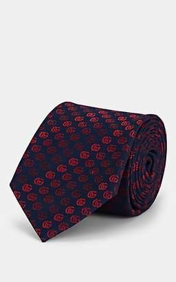Gucci Men's Interlocking G Silk Twill Necktie - Navy