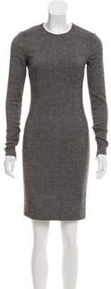 Stella McCartney Long Sleeve Tweed Dress