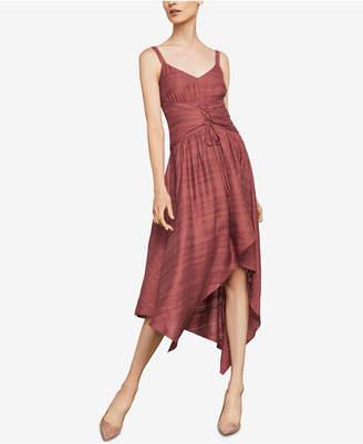 BCBGMAXAZRIA Asymmetrical Lace-Up Dress