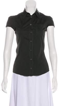Prada Sport Short Sleeve Button-Up Top