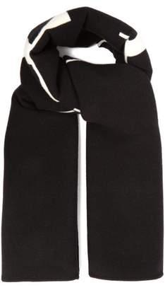 Valentino Vltn Logo Oversized Scarf - Mens - Black White