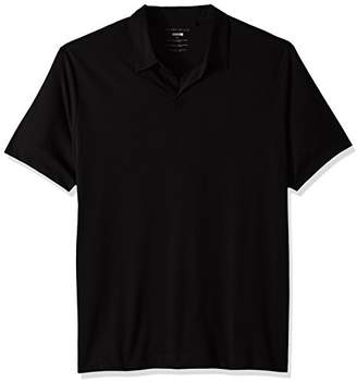 Perry Ellis Men's Tall Stretch Pima Open Polo