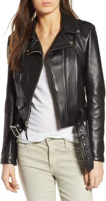 Schott NYC Crop Leather Jacket