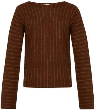 Acne Studios Striped Knit Wool Sweater - Mens - Brown
