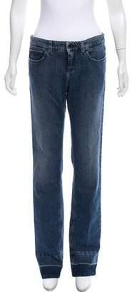 Stella McCartney Mid-Rise Straight-Leg Jeans