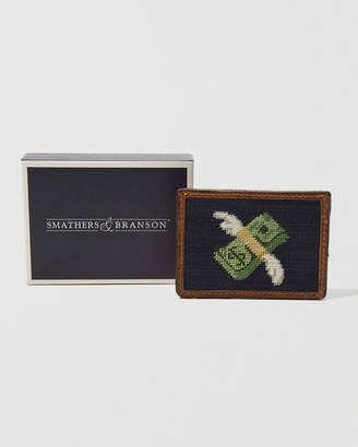 Abercrombie & Fitch Smathers & Branson Flying Cash Needlepoint Card Wallet