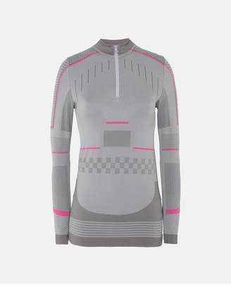 adidas by Stella McCartney Gray Training Seamless Long Sleeve Shirt