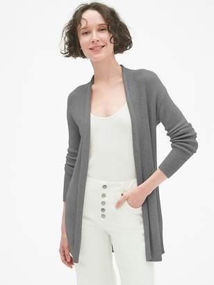 Gap Open-Front Cardigan Sweater in Merino Wool-Blend