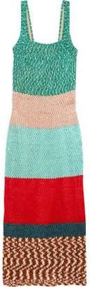 Missoni Color-Block Crochet-Knit Maxi Dress