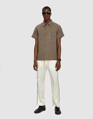 A.P.C. Janis Short-Sleeve Shirt in Brown