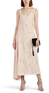 Prada Women's Embellished Crepe Maxi Dress - Cream