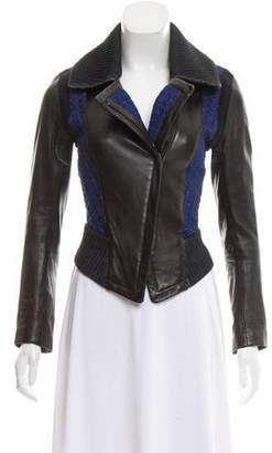 Ohne Titel Leather-Accented Biker Jacket